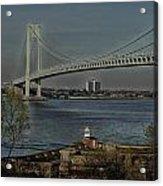 Verrazano Bridge And Fort Wadsworth Acrylic Print