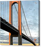 Verrazano Bridge At Sunrise - Verrazano Narrows Acrylic Print