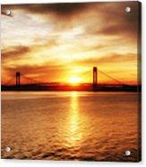 Verrazano Bridge At Sunset Acrylic Print