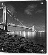 Verrazano-narrows Bridge Bw Acrylic Print