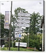 Versailles Crossroads Acrylic Print