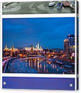 Vertical Collage - Kremlin View - Featured 3 Acrylic Print