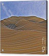 Vertical Dune - The Aqua Tower Acrylic Print