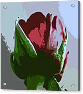 Vertical Rose Painting Style Acrylic Print