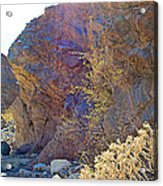 Vertical View Of Big Painted Canyon Trail In Mecca Hills-ca Acrylic Print