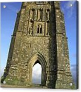 Vertical View Of Glastonbury Tor Acrylic Print