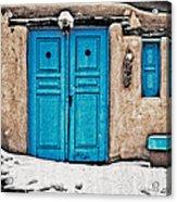 Very Blue Door Acrylic Print