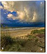Very Cloudy Acrylic Print by Janet Moss