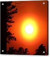 Very Colorful Sunset Acrylic Print