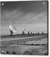 Very Large Array In Black And White Acrylic Print