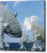 Very Large Array Of Radio Telescopes Acrylic Print