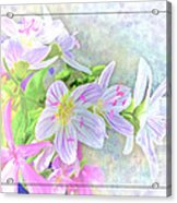 Very Tiny Wildflower Boquet Digital Paint Acrylic Print