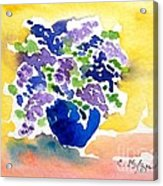 Vase With Lilas Flowers Acrylic Print