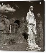 Vestal Virgin Courtyard Statue Acrylic Print