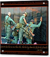 Veterans At Vietnam Wall Acrylic Print by Carolyn Marshall