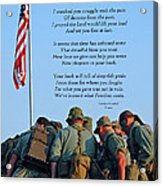 Veterans Remember Acrylic Print by Carolyn Marshall