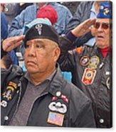 Veterans Saluting Passing Flag In A Parade Sacaton Arizona 2005-2013 Acrylic Print