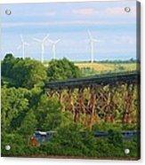 Viaduct And Train Acrylic Print