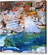 Vibrant Colored Rocks Verzasca Valley Switzerland II Acrylic Print