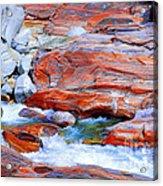 Vibrant Colored Rocks Verzasca Valley Switzerland Acrylic Print