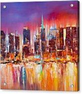 Vibrant New York City Skyline Acrylic Print