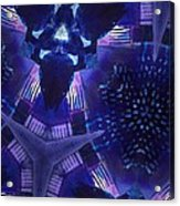 Vibrant Shades Of Blue 9 Acrylic Print