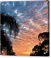 Vibrant Winter Sunset Acrylic Print