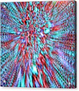 Vibrating Red And Blue Acrylic Print
