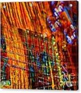 Vibrations Digital Guitar Art Bt Steven Langston Acrylic Print