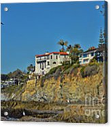 Victoria Beach Tower Hdr Acrylic Print