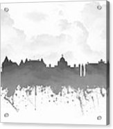 Victoria British Columbia Skyline - Gray 03 Acrylic Print