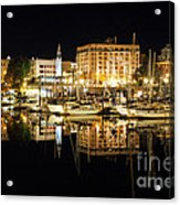 Victoria Inner Harbour At Night Acrylic Print