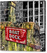 Victorian Boat Dock Sign Acrylic Print by Adrian Evans