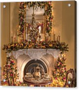 Victorian Christmas By The Fire Acrylic Print