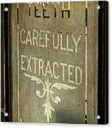 Victorian Dentist Sign Acrylic Print