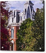 Victorian Home In Autumn Photograph As Gift For The Holidays Print Acrylic Print