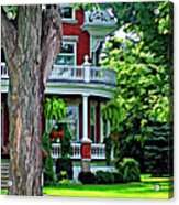 Victorian Home Painted Version Acrylic Print
