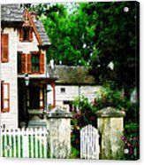 Victorian Home With Open Gate Acrylic Print