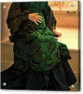 Victorian Lady Expecting A Baby Acrylic Print