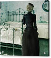 Victorian Lady In A Bedroom Acrylic Print