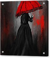 Victorian Lady With Parasol Acrylic Print