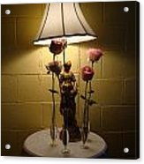 Victorian Lamp And Roses Acrylic Print