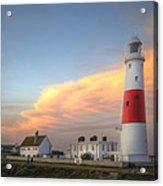 Victorian Lighthouse At Sunset Acrylic Print