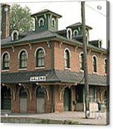 Victorian Train Station Galena Illinois Acrylic Print