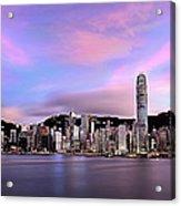 Victoric Harbour, Hong Kong, 2013 Acrylic Print