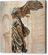 Victory Of Samothrace Acrylic Print by Joey Agbayani