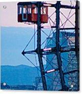 Vienna Ferris Wheel Acrylic Print by Viacheslav Savitskiy