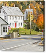 Vienna Maine In Fall Acrylic Print by Keith Webber Jr