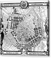 Vienna: Plan, 1860 Acrylic Print