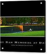 Viet Nam Memorial Wall With Border Acrylic Print
